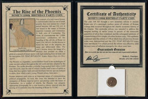 THE RISE OF THE PHOENIX: ROME'S 1100TH BIRTHDAY COIN ALBUM