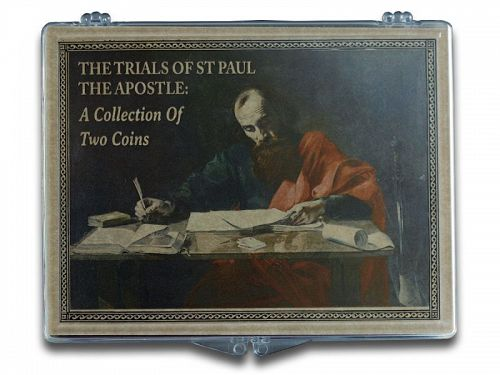THE TRIALS OF ST. PAUL THE APOSTLE: A COLLECTION OF TWO BRONZE COINS