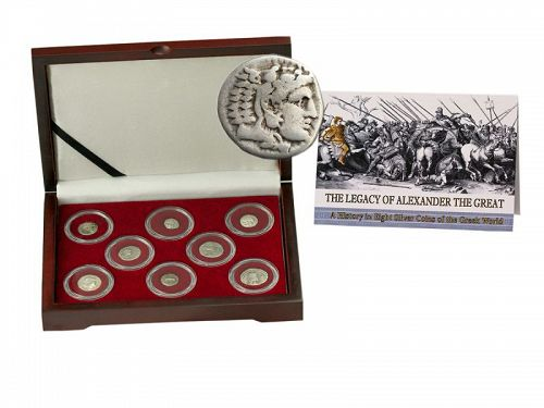 THE LEGACY OF ALEXANDER THE GREAT: EIGHT SILVER GREEK COINS