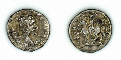 A ROMAN SILVER DENARIUS OF SEPTIMIUS SEVERUS