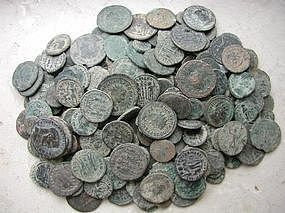 A ROMAN BRONZE COIN HOARD FROM THE HOLY LAND