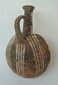 A CYPRIOT TERRACOTTA FLASK