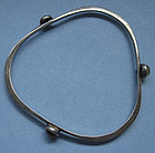 Handmade Sterling and Glass Bangle