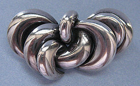 Silver Pin of Abstract Design, Argentina, c. 1960