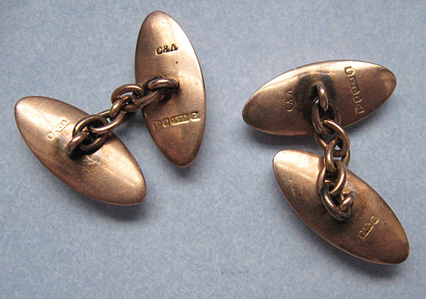 Victorian Gold Engraved Cuff Links