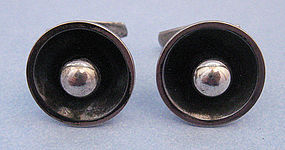 Danish Sterling Round Cuff Links