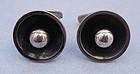 Danish Sterling Round Cuff Links, c. 1960