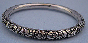 American Sterling Chased Bangle