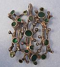 Silver and Enamel Biomorphic Pendant