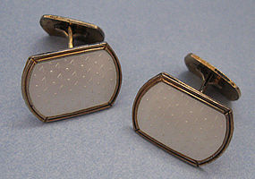 Holmsen Sterling and Enamel Cuff Links, Norne