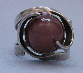Handmade Sterling and Tourmaline Ring