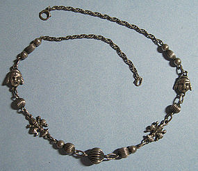 European Sterling Necklace, Peruzzi Style