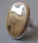 Sterling Handmade Disc Ring