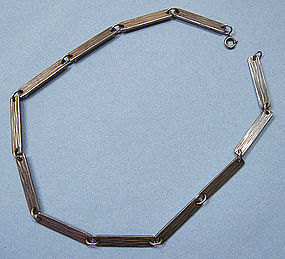 Sterling Necklace of Rectangular Links, c. 1960