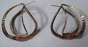 Handmade Abstract Sterling Earrings