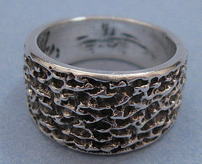 Sterling Textured Band Ring
