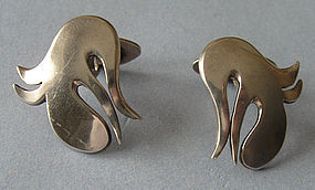 Danish Abstract Sterling Cuff Links