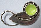 Modernist Sterling Enameled Pin, John Bryan