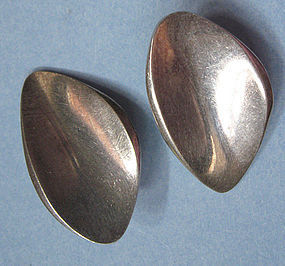 Danish Sterling Modernist Earrings