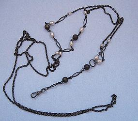Gunmetal Chain with Beads