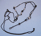 Gunmetal Chain with Beads