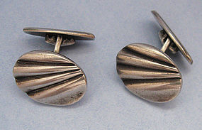 European Silver Cuff Links