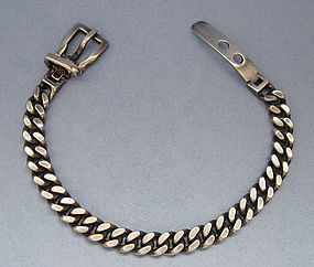 Italian Sterling Bracelet with Buckle Clasp
