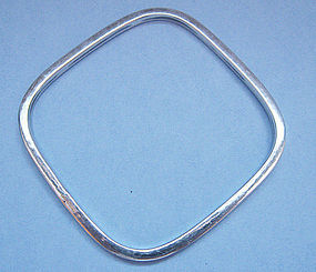 Square Sterling Bangle