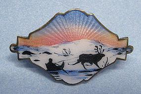 Norwegian Enameled Sterling Pin
