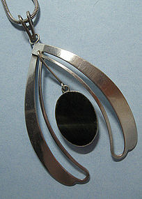 Handmade Sterling and Stone Pendant