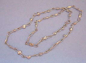 Danish Handmade Silverplated Chain Necklace