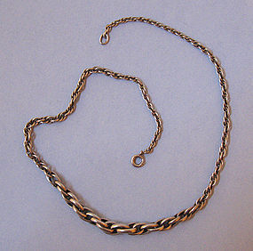 European Silver Chain Necklace