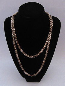 Sterling Kinetic Chain Necklace