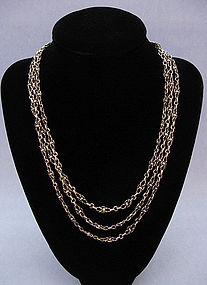French Silver Handmade Chain, c. 1900