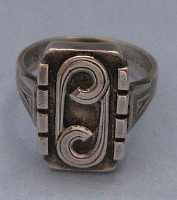 Handmade German .800 Silver Ring