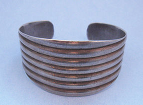 Sterling Ribbed Cuff
