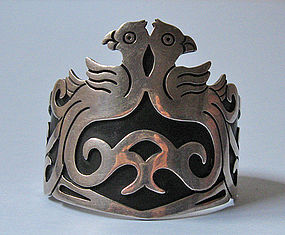 Mexican Sterling Bird Cuff