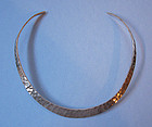 Hammered Sterling Neck Ring