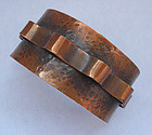 Copper Cuff with Applied Riveted Band
