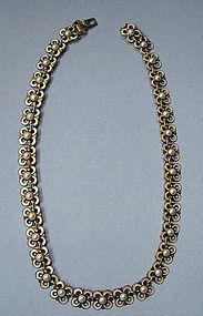 David-Andersen Enameled Necklace, Earrings