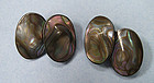 Sterling and Abalone Cuff Links
