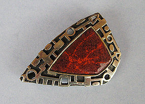 Sterling and Enamel Pin/Pendant