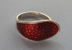 Norwegian Sterling and Enamel Ring