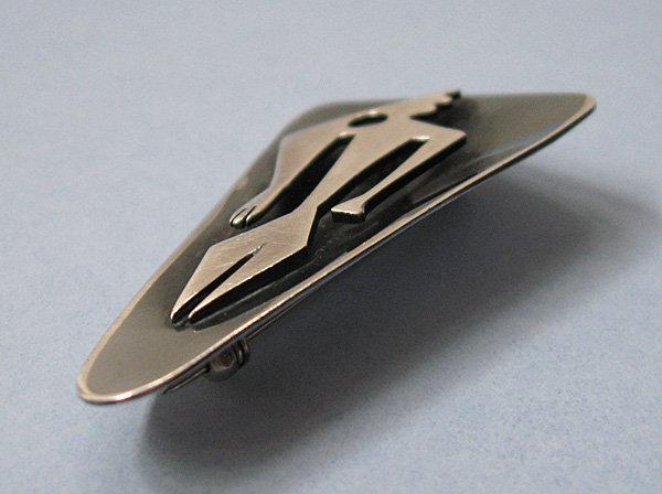 Ed Wiener Handmade Sterling Pin, c. 1955