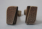 Ed Wiener Sterling Handmade Cuff Links