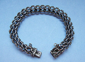Silver Bracelet of Multiple Links