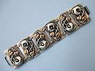 Large Sterling Panel Bracelet