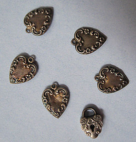 Six American Sterling Charms