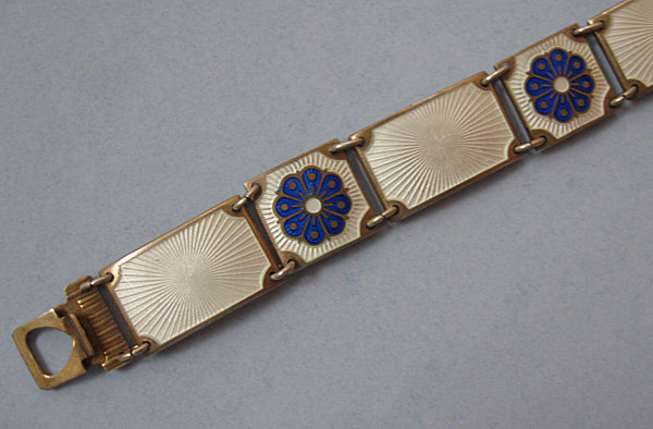David-Andersen Sterling and Enamel Bracelet