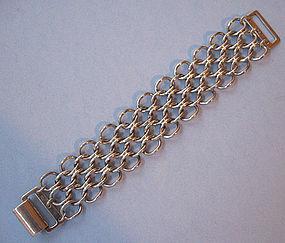 Sterling Bracelet of Interlocking Links